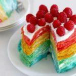 rainbow crepe cheesecake